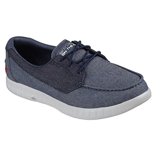 Glide da Barca 53800DEN Scarpe Coastline on Skechers Go Denim The C8ntq