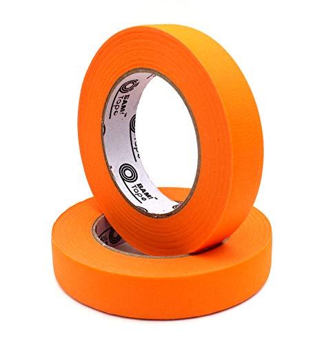 Orange Masking Tape, 2 Large Rolls, 1