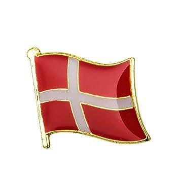 Just 3 left Red and white Danish flag Denmark pin badge