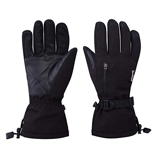 Aegend Ski Snowboard Gloves Small Waterproof Thinsulate Winter Thermal Warm Gloves Windproof Black from Aegend