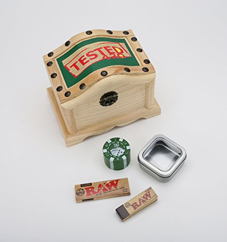Wavy-420-Wooden-Stash-Box-Tobacco-Box-Rolling-Kit-Cigerette-Rolling-Tray-8-pc-Bundle