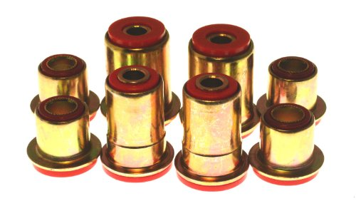 - Energy Suspension 3.3101R Control Arm Bushing Set; Red; Front; 1.65 in. OD; w/All Round Bushings; Performance Polyurethane;