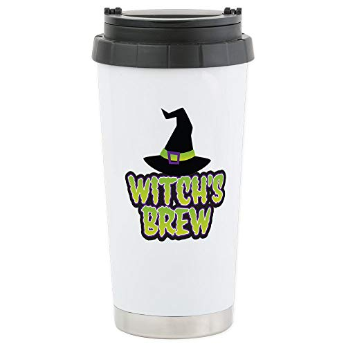CafePress Witch's Brew Stainless Steel Travel Mug Stainless Steel Travel Mug, Insulated 16 oz. Coffee -