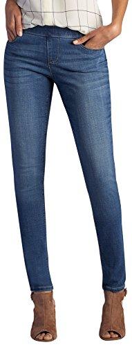 LEE Women's Modern Series Midrise Dream Jean Harmony Pull Legging, Lakeshore, 4 (Mid Rise Petite Jeans)