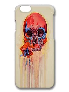 iPhone 6 3D case,Perfectly made to prevent shock,scratches and bumps and other damages for iPhone 6 PC cover,flowers and skull