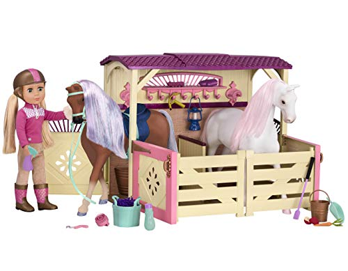 Glitter Girls by Battat - All Asparkle Acres Riding Stable Set - Accessory set for 14-inch horses - 14 inch Doll Accessories and Clothes for Girls Age 3 and Up - Children