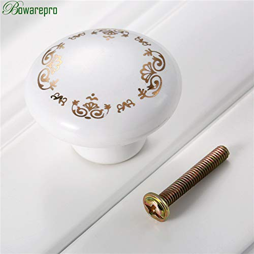 Best Quality - Cabinet Pulls - bowarepro Furniture Knobs Ceramic Drawer Knob Cabinet Pulls Cabinet Cupboard Pull Handle Children Furniture Hardware 38mm 1pc - by HIBISCUS. - 1 PCs (Backplate Oval Ribbon)
