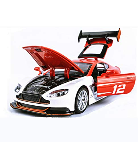 Chch 1:32 Aston Martin GT3 Alloy Car Model Pull Back Toy 4 Open Door Sports Car Simulation Model Toy Exquisite Personality,Red