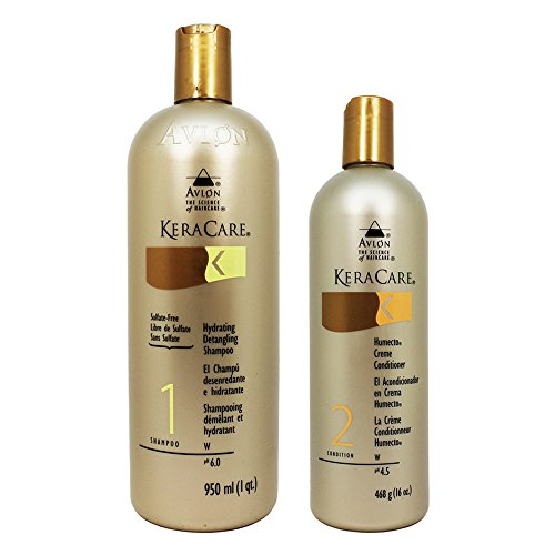 Hydrating Keracare Shampoo (Avlon Keracare Sulfate Free Hydrating Shampoo and Humecto Creme Conditioner, 2 Count)