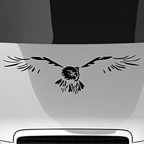 30 x 8 cm anthrazit anthrazit ca 30 x 8 cm malango/® Autoaufkleber Adler auf Motorhaube Aufkleber Sticker Tier Vogel Freiheit Design Styling Szene ca