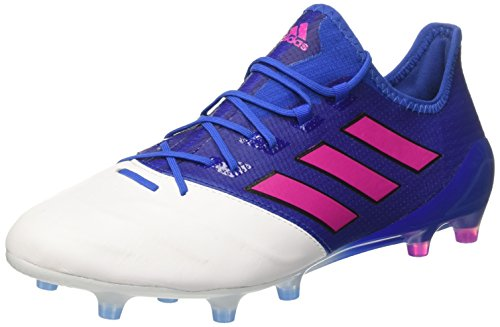Adidas Ace 17 1 Leather Fg Scarpe Da Calcio Uomo Blu blue shock Pink footwear White