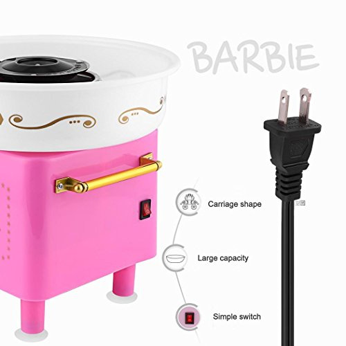 Rapesee Cute Casual Cotton Candy Machine, Stainless Steel Safe Electric Commercial Candy Floss Maker for Family Party … by Rapesee (Image #4)