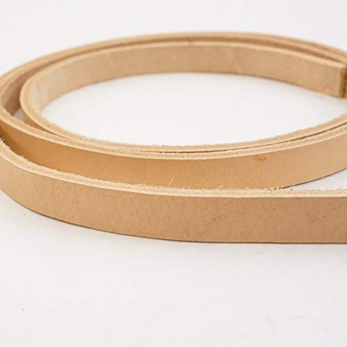 #2 Vegetable Tan Import Cowhide Leather Strip 8/9 oz ()