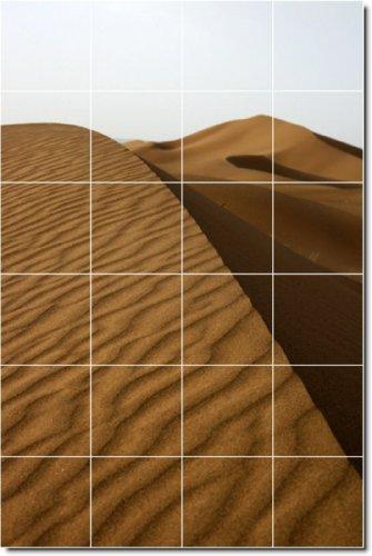 Deserts Photo Backsplash Tile Mural 18. 32x48 Inches Using (24) 8x8 ceramic tiles.