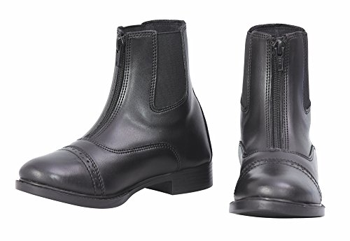 TuffRider Children's Starter Lite Front Zip Paddock Boots,Black,5 ()