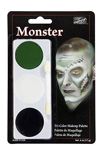 Black Bride Halloween Makeup (Mehron Makeup Tri-Color Halloween Makeup Palette)