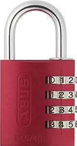 Abus 145/40_ROJO - Candado aluminio combinacion 40mm 4 dígitos rojo