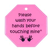 My Tiny Hands Please Wash Sign, Pink