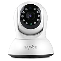 WiFi IP Camera, SANNCE 720P HD Indoor Wireless Home Security Surveillance Camera with Motion Detection, Pan/Tilt, Two Way Audio, Night Vision, Baby Monitor, Nanny Cam(Not Included SD Card)