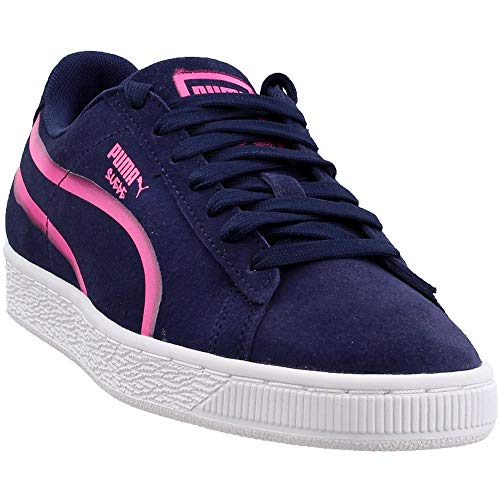 PUMA Men's Suede Classic X Hollows Peacoat/Knockout Pink/Puma White 9.5 D US