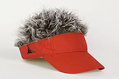 FlairHair Red Visor with