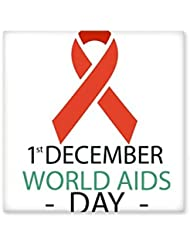 1st December World AIDS Day HIV Solidarity Awareness Symbol Ceramic Bisque Tiles for Decorating Bathroom Decor Kitchen Ceramic Tiles Wall Tiles