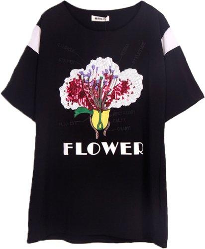 Camisa Blusa Casual Mujer Anuncios Negro Moda Asia vSUnxWR1qw