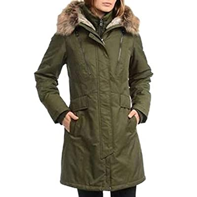 1 Madison Expedition Women's Faux Fur Hooded Parka Jacket (Olive, 2X) at Amazon Women's Coats Shop