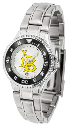 California State (Long Beach) Dirtbags Competitor Ladies Watch with Steel Band by SunTime (Image #1)