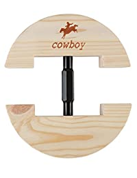"""COWBOY Hat Stretcher- Colourful Adjustable Buckle Heavy Duty-Easy To Use-Small Size 6 1/2"""" to 9 1/2"""" (Small, Black)"""