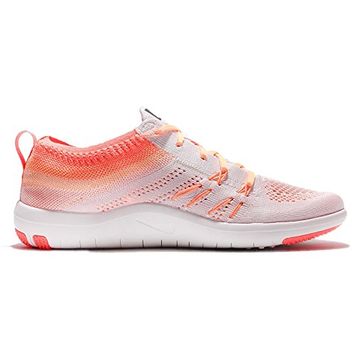 Nike Para Mujer Wmns Libre Flyknit Tr Foco, Luz Vlt / Cumbre Blanco Brillante Mango-pc, 5 Nos