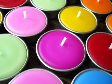 Thai Relaxed Aroma Candle Mix Flower Tea-light with Aluminium Grommet 10 Pcs.
