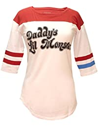 Suicide Squad Harley Quinn Daddy's Lil Monster Raglan T-Shirt