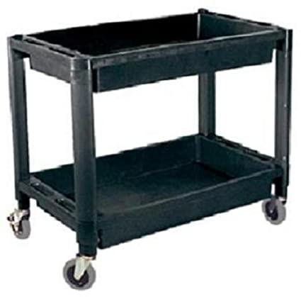 Amazon ATD Tools 7016 Heavy Duty Plastic 2 Shelf Utility Cart