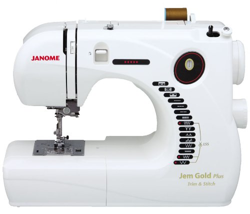 Janome Jem Gold Plus Portable Sewing Machine with Light Serging System (LSS) Model 661 (Best Place To Sell Sewing Machine)