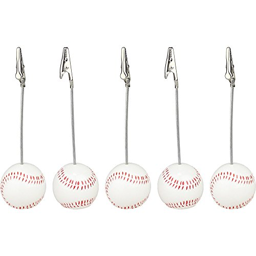 Lot 5pcs Solid Resin Baseball Wire Recipe&desk&card&note&memo&photo Clip/holder or Paper Weight,sport Sereis by Netlab-DIY and Decoration Supplies