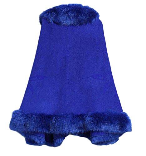 Bettertime Warm Faux Fox Fur Shawls Jackets Coats Wraps Winter Scarves for Women