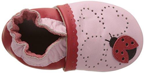 Robeez Lady Bug - Zapatillas de casa Bebé-Niños Rosa Rosa (Rose)