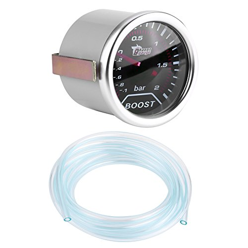 50mm Boost Gauge Bar Universal Car Red Led Turbo Boost Press Gauge Meter Bar Pointer 12V: