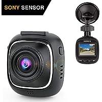 SuperEye Dash Cam per Auto 1080P Telecamera per Auto Car Dash Cam, WDR, Visione Notturna, Sony IMX323 Sensor, 170 Gradi, G-Sensor, Rilevazione di Movimento, Registrazione in Loop