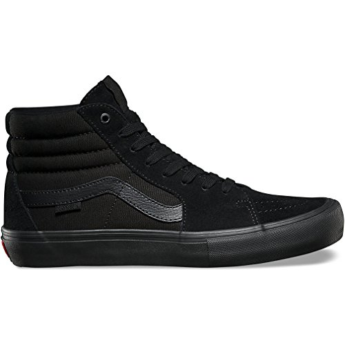 (Vans Men's Sk8-Hi Pro Blackout Skate Shoe 13 Men US)