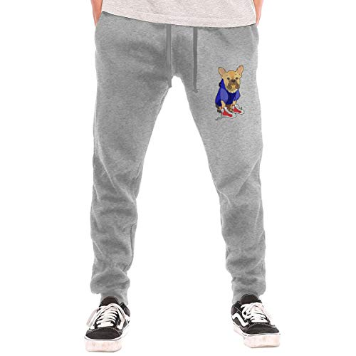 Price comparison product image Leather Chihuahua Man's Elastic Waist Jogger Sweatpants Tracksuit Bottoms Training Running Athletic Pant