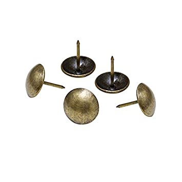 nykkola round large headed nail 1 diameter color antique brass pack