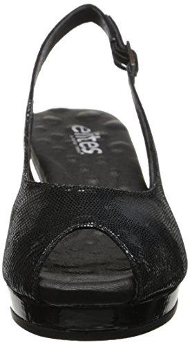 Walking Cradles Natasha Bomba de la mujer Black Lizard Print/Black Patent