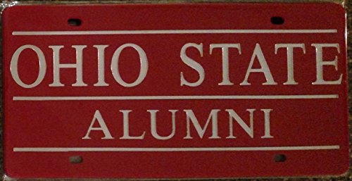 Laid Laser (Ohio State Buckeyes ALUMNI SD03927 Deluxe Laser Cut Etch Mirrored License Plate Tag University of)