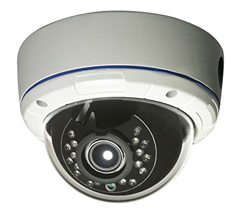 Gawker G1083PDIR 1000TVL Sony IMX238 1.3MP Sensor IR Dome CCTV Security camera, True day&night, IP66 Vandal proof and Weather proof, 2.8-12mm Varifocal lens, IR Smart no ghost image, DNR OSD, White Metal case, Dual voltage DC12V/AC24V.
