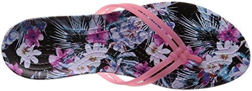 Svart Grafiske tropisk Paradis Crocs Floral Isabella Floral Kvinners Rosa Flip Flops XxqPCW