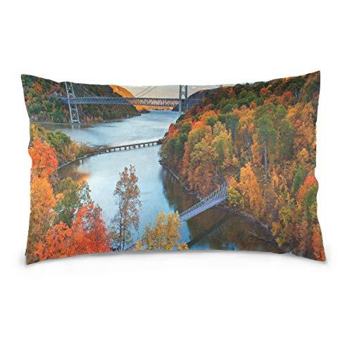 KMAND Hudson River Valley Autumn Cotton Pillowcase 20