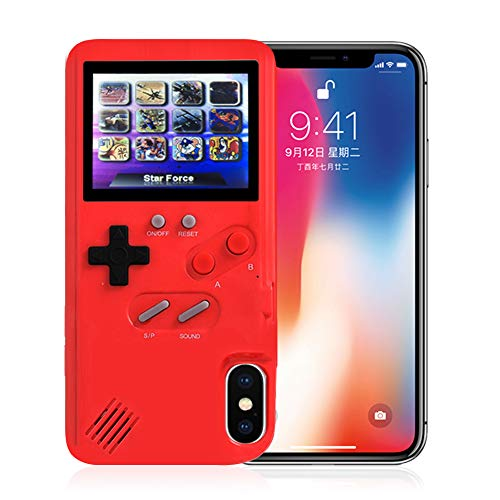 AOLVO Gameboy Case for iPhone, 3D Retro Handheld Game Console Video Game Cover Case with 36 Games, Full Color Display for iPhone Xs/X,iPhone8/8 Plus,iPhone 7/7 Plus,iPhone 6/6Plus (3d Video Games)