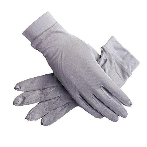 lberry Silk Gloves Liner Glove Inner Ski Bike Cycle Gloves (Silvergrey), One Size ()